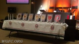 Eagle Ceremony Table.  Each candle represents levels of achievement